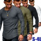 Men Fashion T Shirt Long Sleeve Slim Bodycon Casual Street Style Tops Skirt US image