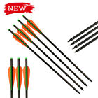 12X 16/18/20/22 Inch Archery Arrow Carbon Crossbow Bolts Bow Hunting Shooting
