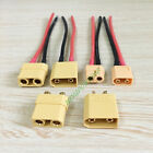 XT90 XT60 Male Female connector banana plug 14AWG 120mm wire for RC LiPO battery