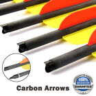 """6Pcs 16/18/20"""" Carbon Arrows With Insert Archery Crossbow Bolt For Hunting"""