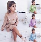 Fashion Autumn Print Girls Mni sweater Casual Children Clothes Long Sleeve tops
