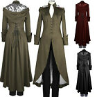 Fashion Women Victorian Hood Long Jacket Steampunk Gothic Tops Double Cape Coat