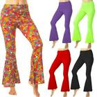 1960s 1970s Flares Adult Disco Flared Trousers Hippie Fancy Dress Costume Ladies