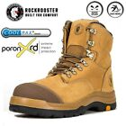 Kyпить ROCKROOSTER Safety Work Boots Mens Steel Toe Cap Slip Resistant Lace up Shoes на еВаy.соm