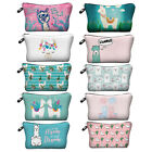 Alpaca Llama Print Cosmetic Bag Cartoon Travel Pouch Women Storage Makeup Bag #9