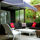 Patio 10'×8' Manual Retractable Deck Awning Sun Shade Shelter Canopy Outdoor
