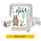 BEAR-LY WAIT New Baby Shower - It's A Boy - Party Range - Tableware Decorations