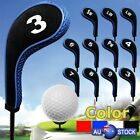 12pcs Golf Clubs Head Covers Set Headcovers With Zipper Long Neck Protect  New