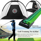 Golf Practice Driving Net System Range Aid Training Cage Chipping Hitting Net