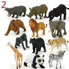 12x Animal Model Plastic Figures Jungle Wild/Ocean/Zoo Animal Playset Kid Toy UK