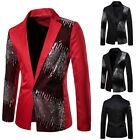 Men Business Slim Suit Performance Jacket with Two-color pearlescent sequins 41