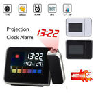LED Digital Projection Alarm Clock Weather Calendar Thermometer Snooze Backlight