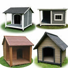 Large Pet Dog Kennel Timber House Cabin Wood Log Box