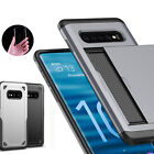 For Samsung Galaxy S10+ Shockproof Armor Rugged Bumper Case Card Holder Cover US