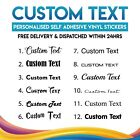 2x Personalised Custom Name Text Vinyl Stickers Transfers Decals