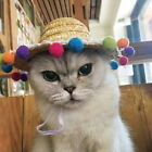 Woven Pet Cat Hat Cat Little Dog Toy Hat Cosplay Farmer Hat Adjustable String 41