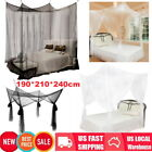 4 Corner Post Bed Canopy Mosquito Net Full Queen King Size Netting Bedding US image