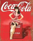 COCA COLA PIN UP GIRL CAFE SHOP METAL PLAQUE ALUMINIUM SIGN OTHERS LISTED 1140 £6.99  on eBay