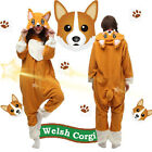 Cosplay Costume Kigurumi Unisex Welsh Corgi Dog Halloween Pajamas Christmas Gift