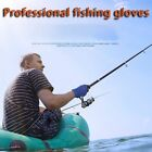 Two Fingers Ice Silk Sunscreen Fishing Gloves Riding Breathable Non-slip Gloves