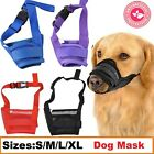 Dog Safety Muzzle Muzzel Adjustable Biting Barking Chewing Small Medium Large x
