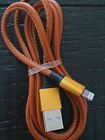 iPhone Fast Charging PU Leather USB Charger Cable Sync Cord - 2.1A