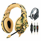 Gaming Headset 3.5mm Wired Headphone Earphone Earbud Camouflage For PS4 Xbox One