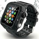 Waterproof Case Apple Watch Series 5/4 44mm Built-in Screen Protector Watch Band image