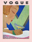 Vogue Cover Fashion Lady Butterfly Designs Vintage Poster Repro FREE SH