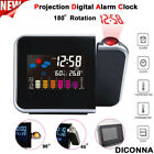 Projection Digital Alarm Time Clock Snooze Weather Thermometer LED LCD Display