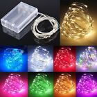 Fairy Lights Battery Operated Micro Warm/Cool White LED Silver/Copper Wire Lamp
