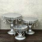 6Pcs Cake Stand Set Metal Cupcake Holder Display Plate Crystal Wedding Party