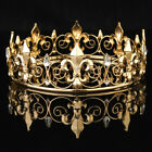 Men's King Crown Imperial Medieval Fleur De Lis Wedding Full Circle Round Tiara