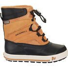 Merrell Snow Bank 2 Wtpf Kids Boots - Wheat Black All Sizes