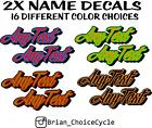 2x PERSONALIZED STICKERS harley dyna fxr sportster davidson decal softail hd