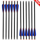 16-22 Inch Aluminum Crossbow Bolts With Field Point/Moon Nock Target Arrows 12Pk