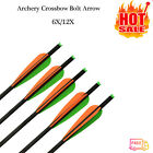 """Archery 18"""" Carbon Shaft Arrows Tip Nocks For Crossbow Bolts Hunting Shooting"""