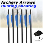 16-22 Inch Carbon Crossbow Bolts With Field Point/Moon Nock Target Arrows 6Pk