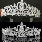 Kyпить Wedding Bridal Princess Crystal Prom Hair Tiara Crown Veil Headband w/ Comb/Hole на еВаy.соm