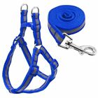 StoreInventorydog set harness leash lead reflective nylon 7 colors for small medium dogs puppy