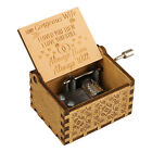 """Wooden Music Box """"You Are My Sunshine"""" Engraved Queen Musical Case Toy Kids Gift"""