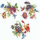 3 Meissen Wild Flower Bouquets Select-A-Size Waterslide Ceramic Decals  274 Bx image