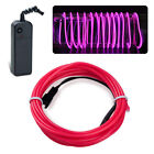 EL Wire Neon LED Car Interior Atmosphere Glow String Strip Lights Rope Tube Lamp