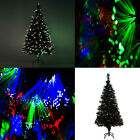 'Christmas Tree Star Green Fibre Optic Multi Color Changing Lights White Pink Uk