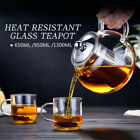 20-45 Ounce Heat Resistant Glass Teapot with Infuser&Lid Coffee Tea Herbal