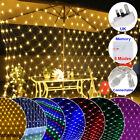 Led String Curtain Decor Lights Waterproof Uk Plug Outdoor Party Home Wedding Uk