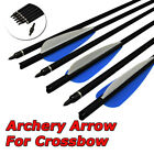 "16-22"" Archery Crossbow Carbon Arrows Bolts Target Tips Vanes Nocks Bow Hunting"