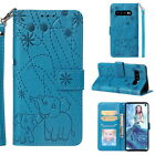 Luxury Embossed Leather Wallet Case For Samsung Galaxy S10+ S9 S8+ Protect Cover