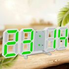 Large 3D Wall Clocks 24Hour Display Digital LED Light Desktop Snooze Alarm Watch