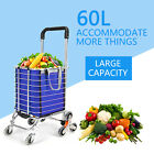 60L Bearings Upgraded Folding Shopping Cart Stair Climbing Grocery Laundry
